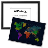World Map Watercolor (Dark) Photo