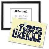 There's No Place Like Home Text Poster Posters