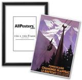 Chamonix-Mont Blanc, France - Funicular Railway to Brevent Mt. Prints