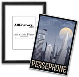 Persephone Retro Travel Poster Posters