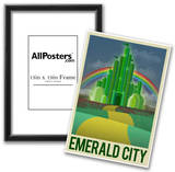 Emerald City Retro Travel Poster Posters