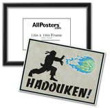 Hadouken Video Game Poster Poster