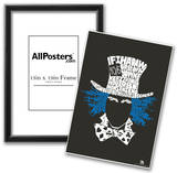 Mad Hatter Quote Text Poster Prints