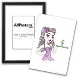 Malt Shop Girl Print