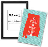 Home Is Where The Heart Is - Alabama Print