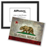 California State Flag With Distressed Treatment Prints