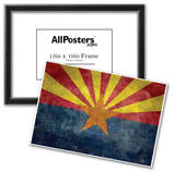Arizona State Flag - With Distressed Treatment Posters