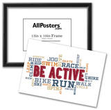 Active Fitness Word Cloud Collage Posters