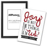 Joy Is Not In Things Print