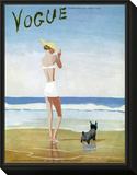 Vogue Cover - July 1937 Framed Print Mount by Eduardo Garcia Benito