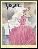 Vogue Cover - April 1927 Mounted Print by William Bolin