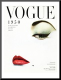 Vogue Cover - January 1950 Mounted Print by Erwin Blumenfeld
