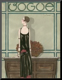 Vogue - February 1925 Mounted Print by Georges Lepape