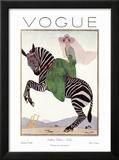 Vogue Cover - January 1926 Framed Print Mount by André E. Marty