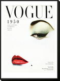 Vogue Cover - January 1950 Framed Print Mount by Erwin Blumenfeld