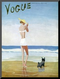 Vogue Cover - July 1937 Mounted Print by Eduardo Garcia Benito