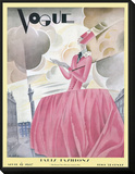 Vogue Cover - April 1927 Framed Print Mount by William Bolin