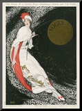 Vogue Cover - August 1912 Mounted Print by George Wolfe Plank