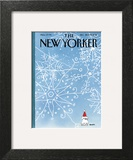 The New Yorker Cover - December 22, 2014 Art Print by George Booth