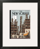 Fall Library - The New Yorker Cover, October 20, 2014 Art Print by Tom Gauld