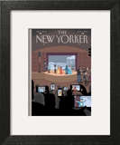 All Together Now - The New Yorker Cover, January 6, 2014 Wall Art by Chris Ware