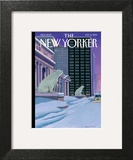 Polar Bears on Fifth Avenue - The New Yorker Cover, January 13, 2014 Prints by Bruce McCall