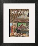 The New Yorker Cover - December 1, 2014 Art Print by Bruce McCall