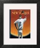 Derek Jeter Bows Out - The New Yorker Cover, September 8, 2014 Wall Art by Mark Ulriksen