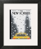Rainy Day - The New Yorker Cover, October 6, 2014 Wall Art by Christoph Niemann
