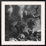Propman Helping Seaweed Harvest During Underwater Filming of Disney's 20,000 Leagues Under the Sea Framed Photographic Print by Peter Stackpole