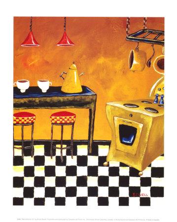 Retro Kitchen III Lámina