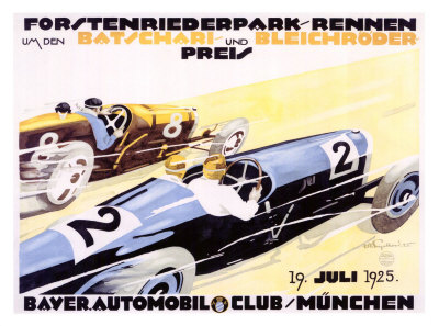 Bayer Auto Club Roadster, c.1924 Giclee Print by Julius U. Engelhard