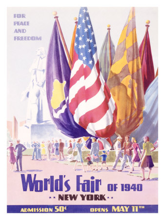 World's Fair, New York, c.1940 Lámina giclée