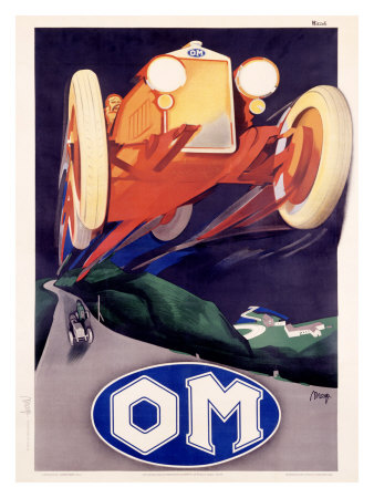 OM Roadster Giclee Print by Marcello Nizzoli