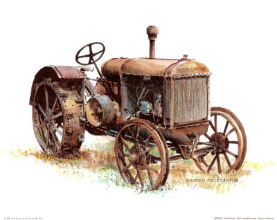 Early Model Mccormick-Deering Tractor Art Print