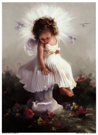 Baby Angel II Art Print