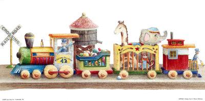 Vintage Toys II Print by Sharon Pedersen