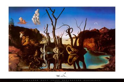 Swans Reflecting Elephants, c.1937 Print by Salvador Dali