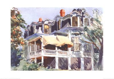The Mansard Roof, c.1923 Prints by Edward Hopper