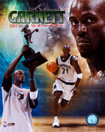 Kevin Garnett - MVP de la NBA dans le Championnat 2004 - Portrait Plus Photofile Photographie