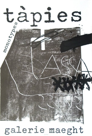 Monotypes, 1974 Posters by Antoni Tapies