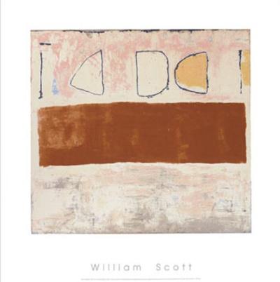 White and Ochre, c.1960 Serigraph by William Scott