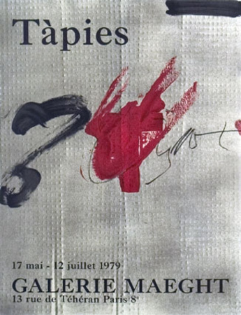 Juillet, 1979 Art by Antoni Tapies