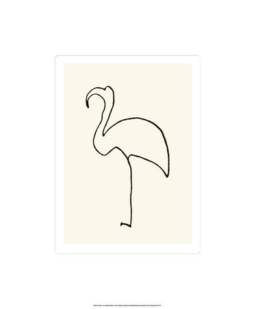 Der Flamingo Serigrafie von Pablo Picasso