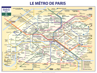 Le Metro de Paris Art Print
