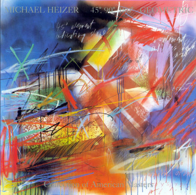45, 90, 180 Geometric, 1983 Prints by Michael Heizer