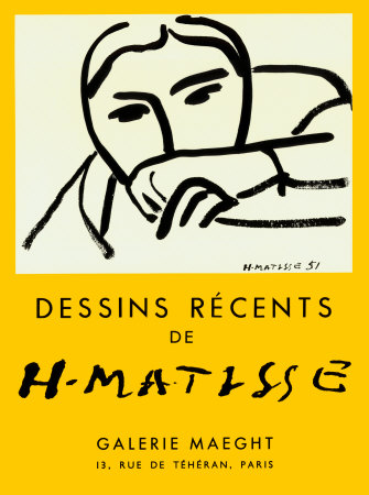 近年の素描, 1952 ポスター : アンリ・マティス