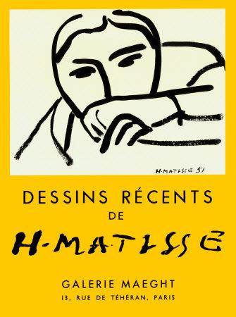 Dessins Recents, 1952 Prints by Henri Matisse