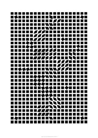 Tlinko, c.1955 Serigraph by Victor Vasarely