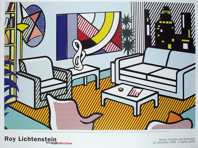 Interior with Skyline, Collage for Painting Samlertryk